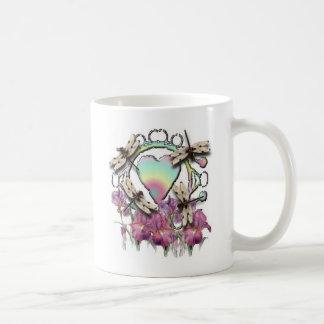 White Dragonflies Coffee Mug
