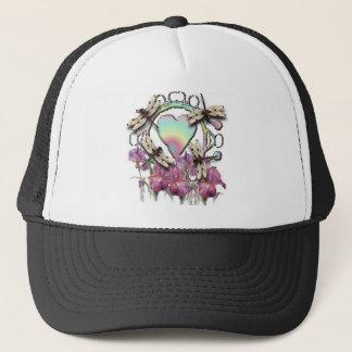 White Dragonflies Trucker Hat