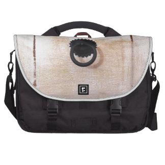 white drawer bag for laptop