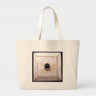 white drawer tote bag