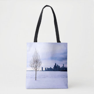 White dream - winter in Chicago, bags