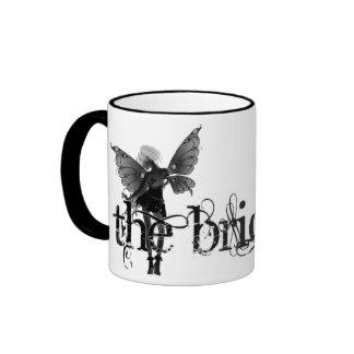 White Dress Fairy B&W Negative - The Bride Mugs
