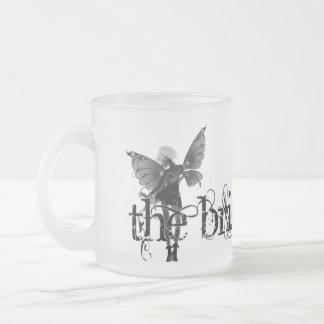 White Dress Fairy B&W Negative - The Bride 10 Oz Frosted Glass Coffee Mug