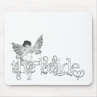 White Dress Fairy B W - The Bride Mouse Pad