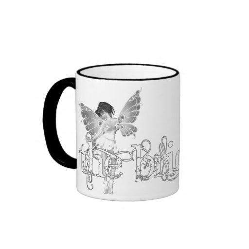 White Dress Fairy B&W - The Bride Coffee Mugs