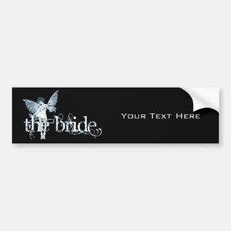 White Dress Fairy Blue - The Bride Bumper Stickers