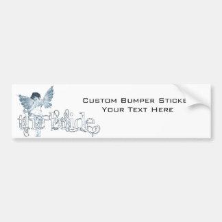 White Dress Fairy Blue - The Bride Bumper Sticker