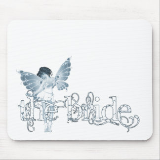 White Dress Fairy Blue - The Bride Mouse Pad