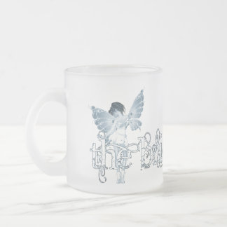 White Dress Fairy Blue - The Bride Mugs