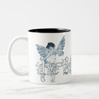 White Dress Fairy Blue - The Bride Coffee Mugs