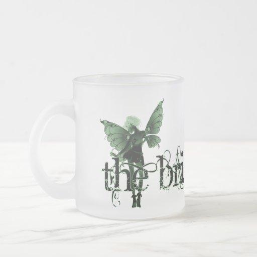 White Dress Fairy Green Negative - The Bride Mug
