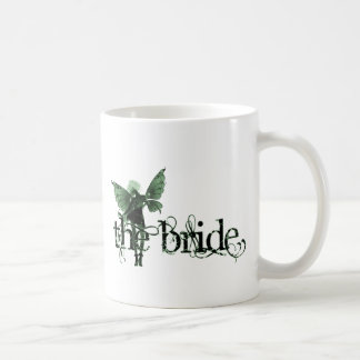 White Dress Fairy Green Negative - The Bride Coffee Mugs