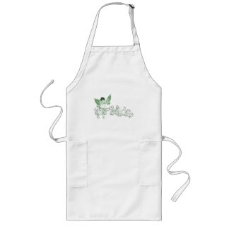 White Dress Fairy Green - The Bride Aprons