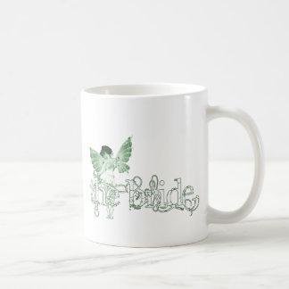 White Dress Fairy Green - The Bride Basic White Mug