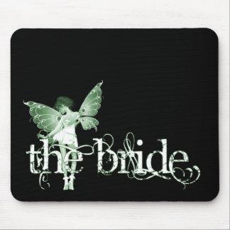 White Dress Fairy Green - The Bride Mousepad