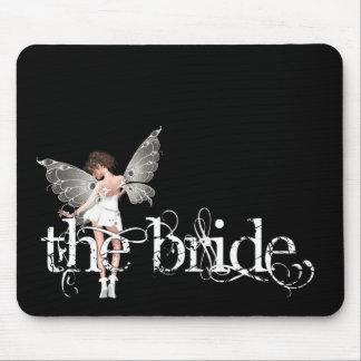 White Dress Fairy Original - The Bride Mouse Pads