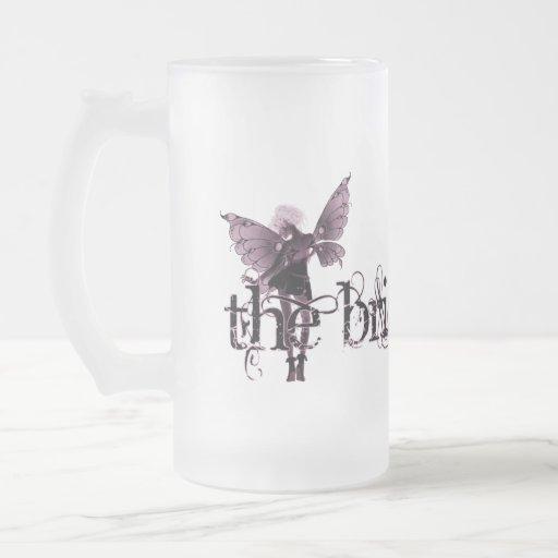 White Dress Fairy Pink Negative - The Bride Mug