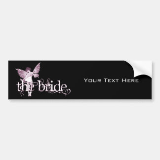 White Dress Fairy Pink - The Bride Bumper Stickers