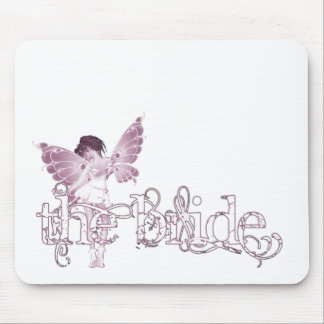 White Dress Fairy Pink - The Bride Mousepad