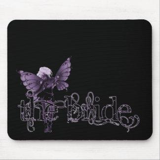 White Dress Fairy Purple Negative - The Bride Mousepad