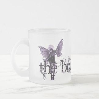 White Dress Fairy Purple Negative - The Bride 10 Oz Frosted Glass Coffee Mug