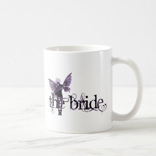 White Dress Fairy Purple Negative - The Bride Coffee Mugs