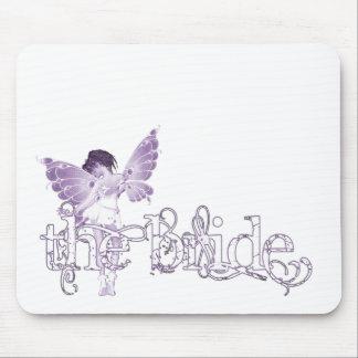 White Dress Fairy Purple - The Bride Mousepads