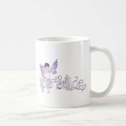 White Dress Fairy Purple - The Bride Coffee Mugs
