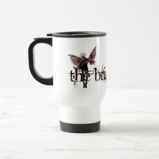 White Dress Fairy Red Negative - The Bride Coffee Mug