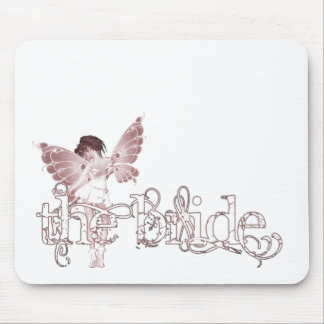 White Dress Fairy Red - The Bride Mousepad