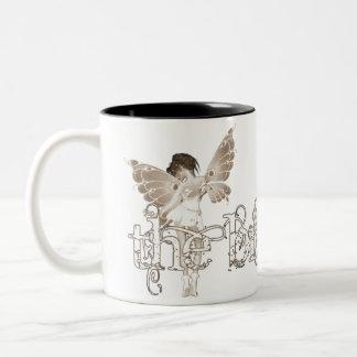 White Dress Fairy Sepia - The Bride Coffee Mugs