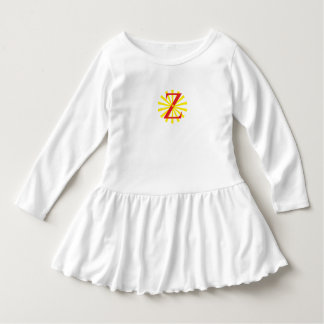 White dress for girl with letter z
