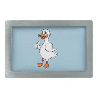 White duck belt buckle