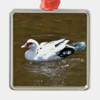 White Duck. Christmas Ornament