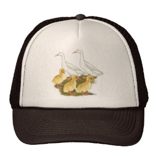 White Ducks and Ducklings Cap