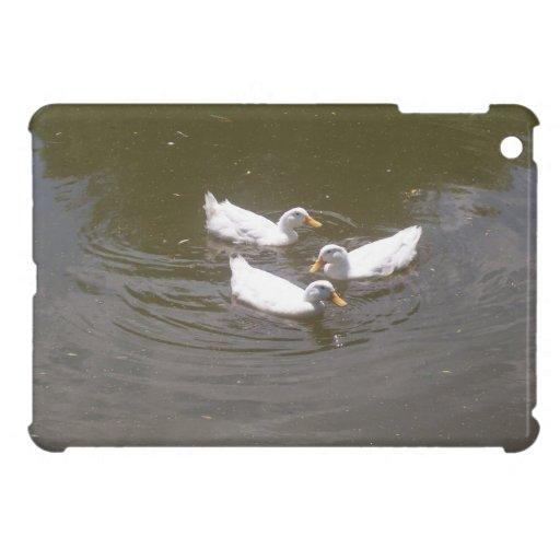 White Ducks Swimming iPad Mini Case