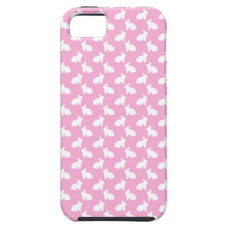 White Easter Bunnies on Pink iPhone 5 Cover