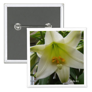"White ""Easter"" Lily Pin"