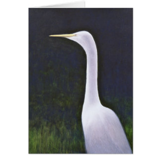 White Egret Card