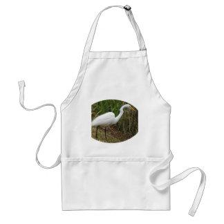 White Egret Standard Apron
