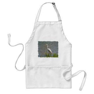 White Egret Tropical Bird Photo Standard Apron