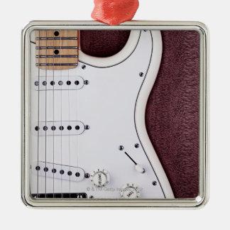 White Electric Guitar 2 Christmas Ornament