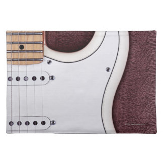 White Electric Guitar 2 Placemat