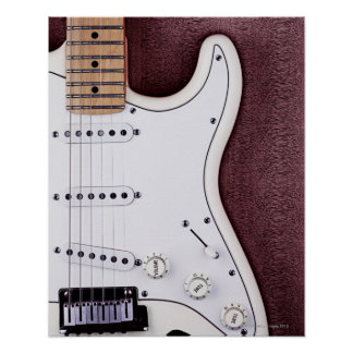 White Electric Guitar 2 Posters