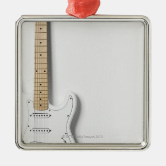 White Electric Guitar 3 Christmas Ornament