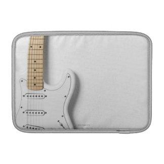 White Electric Guitar 3 MacBook Sleeve