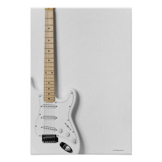 White Electric Guitar 3 Poster