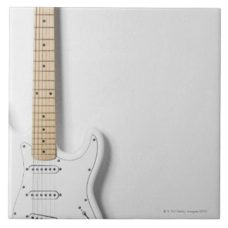 White Electric Guitar 3 Tile