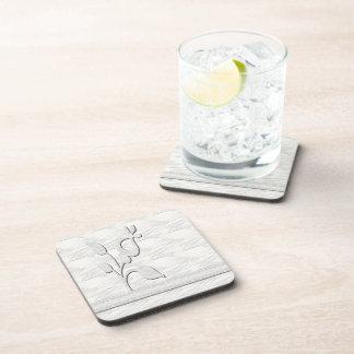White Elegance 1 Beverage Coaster