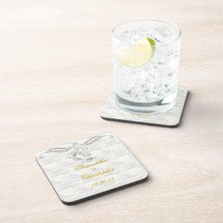 White Elegance 1 Drink Coasters